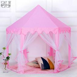 Girls Kids Princess Playhouse Pink Fairy Castle Play Tent Ou