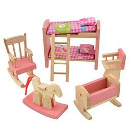 Goodfeng Wooden Doll Bathroom Furniture Dollhouse Miniature