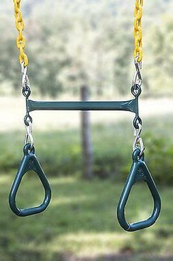 Heavy Duty Playground Trapeze Bar with Rings Extra Long 38 I
