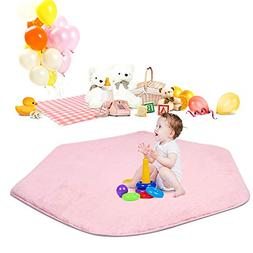 Hexagon Rug for Princess Castle Playhouse for Girls Children