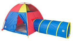 Pacific Play Tents Kids Hide-Me Dome Tent and Crawl Tunnel C