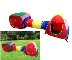 Kids Play Tent House Indoor Outdoor Teepee Tunnel Dome Child