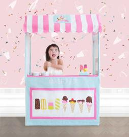 Tiny Land Ice Cream Cart for Kids with Play Food - Colorful