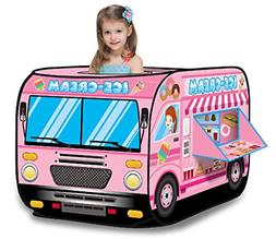 Ice Cream Truck Princess Pink Pop Up Play Tent - Foldable In
