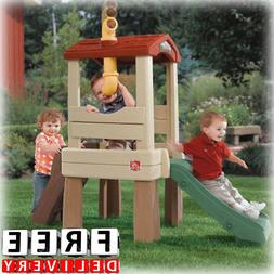 Kid Plastic Playhouse Outdoor Indoor Girl Boy Climber Kid Fu