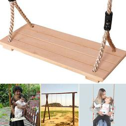 Kids Adult Wooden Swing Seat Climbing Frame Set Tree Indoor