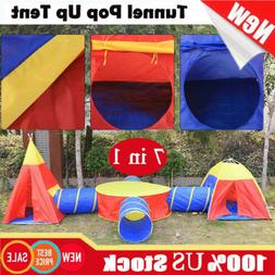 Kids Baby Play Tent Tunnel In/Outdoor Portable Foldable Play