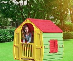 Playhouse for Kids Outdoor Indoor Plastic Toy Portable Castl
