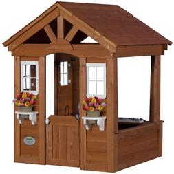 kids outdoor playhouse cowboy wooden toy structure