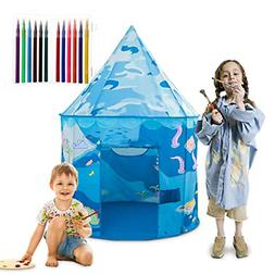Anyshock Kids Play Tent, DIY Coloring Toys Outdoor Indoor Pl