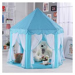 kids play tent hexagon princess