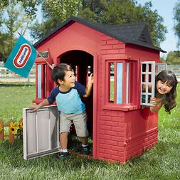 Kids Playhouse Plastic Indoor Outdoor Play House Red Childre