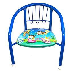 2 Pc Kids Toddler Metal Chairs with Soft Cushion Bottom,Sque