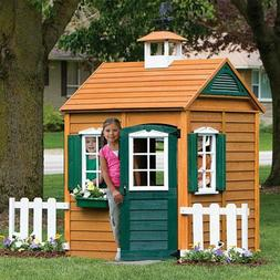Kids Wooden Playhouse Outdoor Backyard Play House Children Y