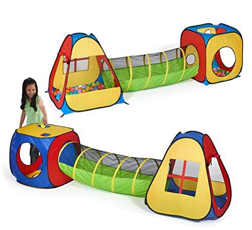 UTEX in Pop Up Play with Tunnel, Ball for Babies Toddlers, Indoor/Outdoor Playhouse