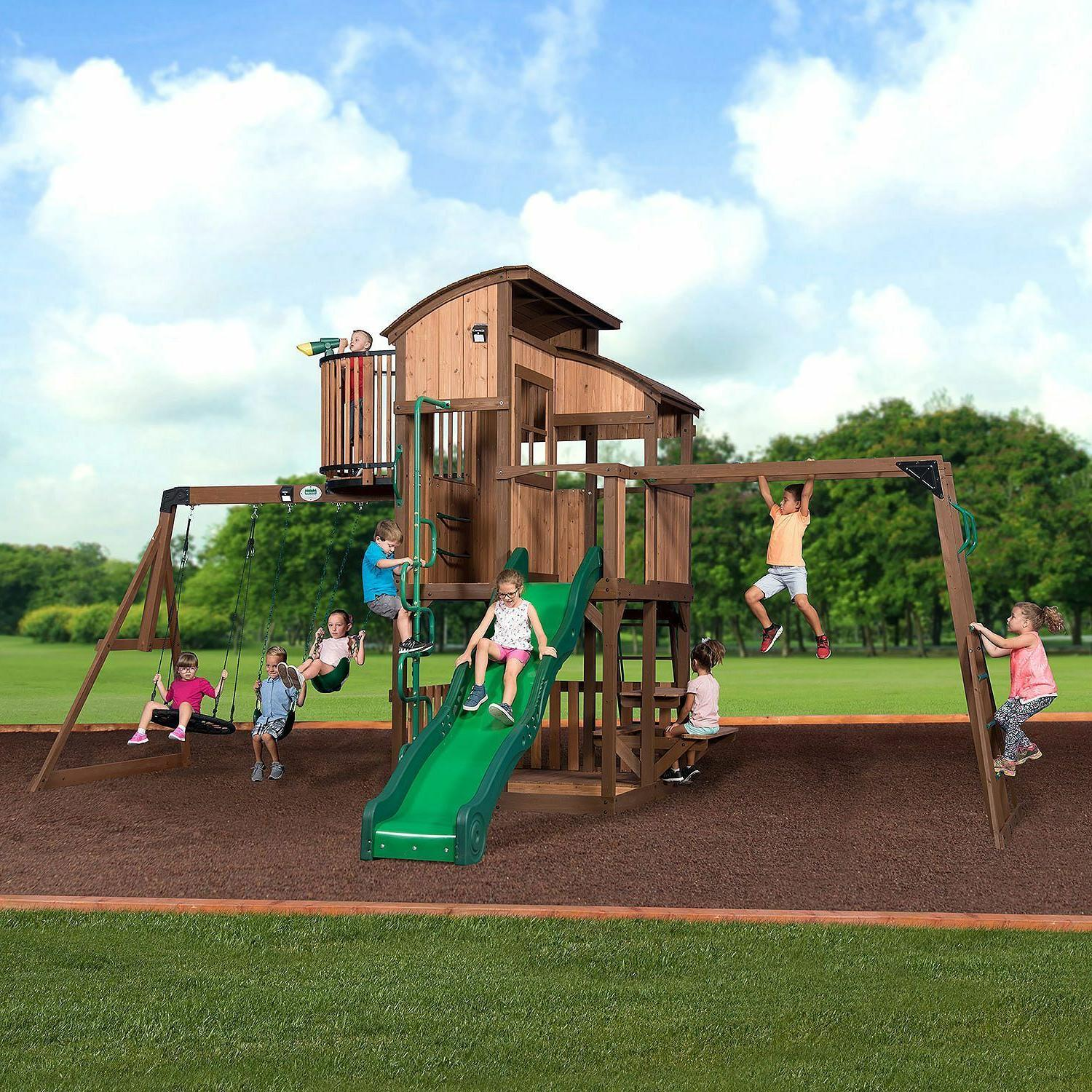 100 percent cedar lumber play set skyfort