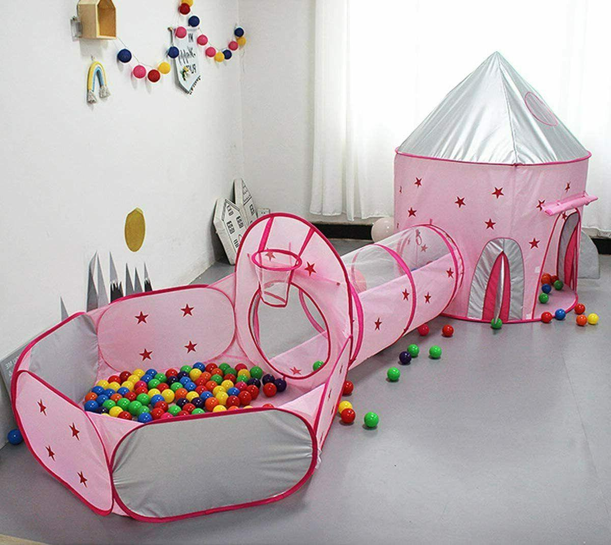 3 In 1 Kids Play Pop Up Playhouse Pit Toy