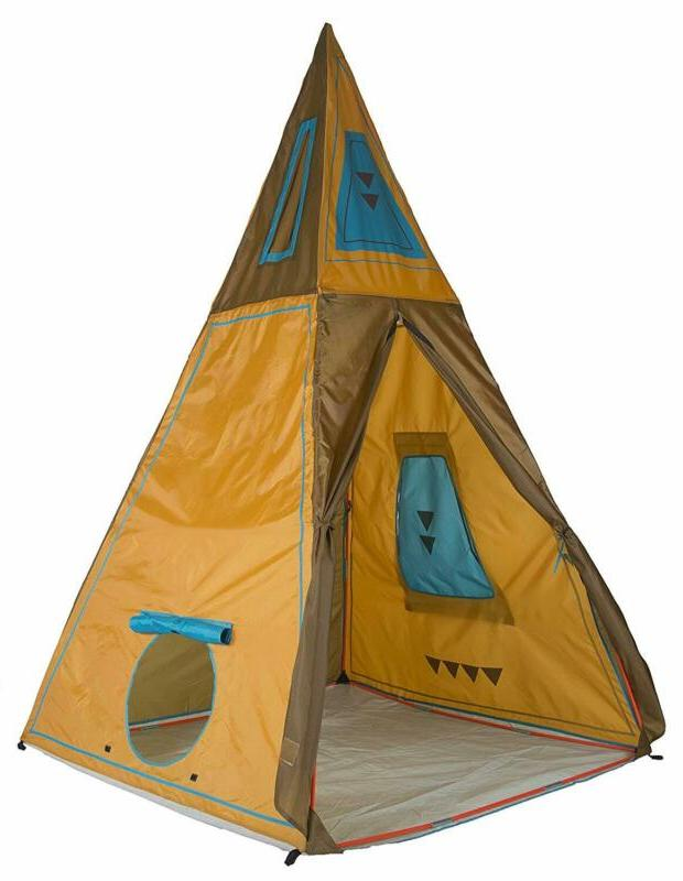 """Pacific Tents Kids Giant Tee Pee Tent Playhouse, 59"""""""