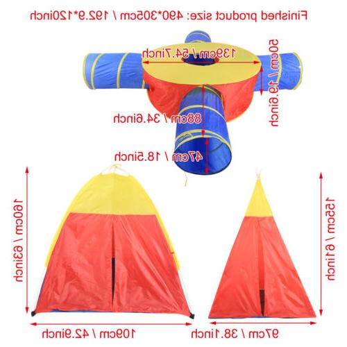 7 Folding Portable Kids Tent Crawl Play Indoor