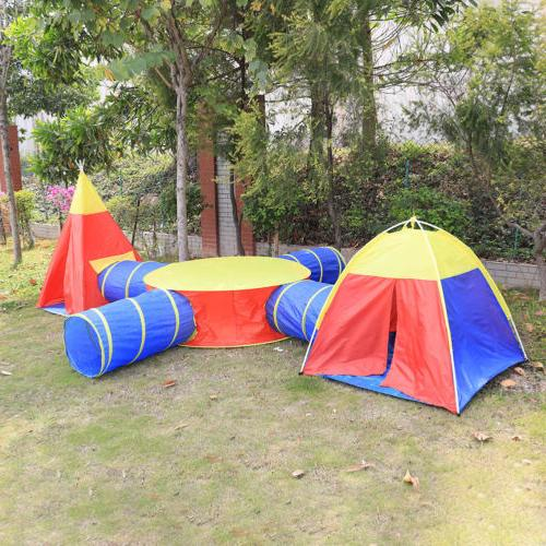 Portable Toy Tent Tunnel 7 Playhouse
