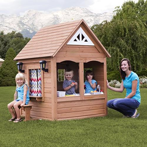 Backyard Cedar Outdoor Wooden Playhouse