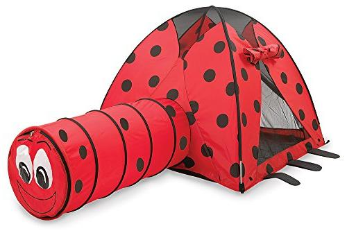 Pacific Play Tents Kids Lady Bug Dome Tent and Crawl Tunnel