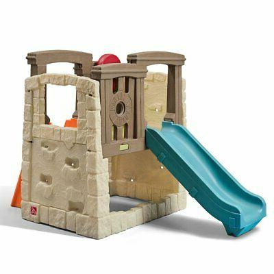 Step2 Naturally Playful Woodland Climber - Kids Durable Plastic Slides Multicolor