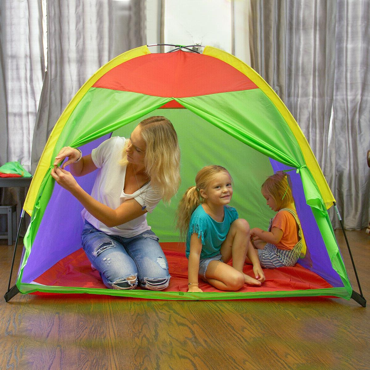 Kids Tents Children Play Toy Playhouse Rainbow