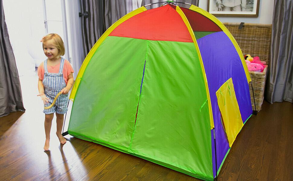 Kids Tents Indoor Children Toy Rainbow
