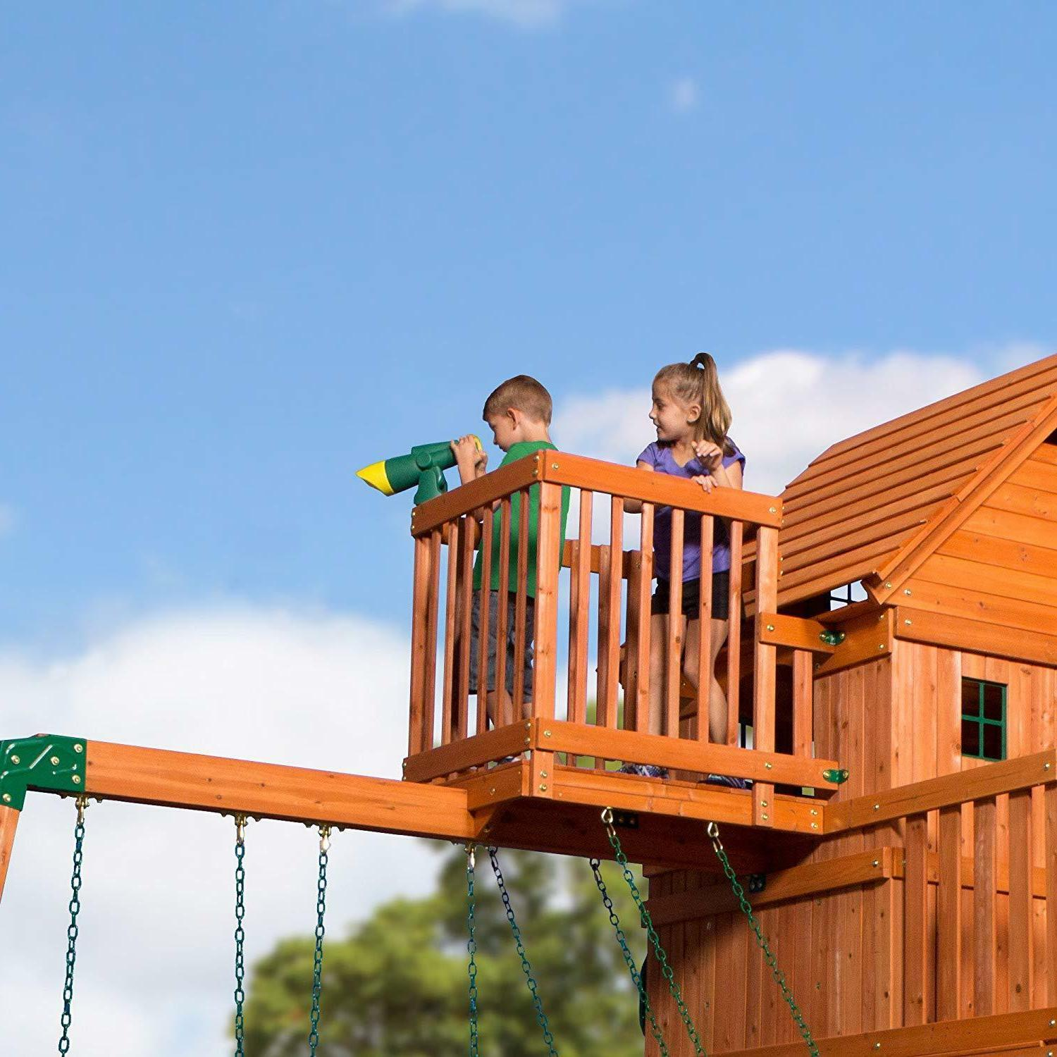 Backyard Discovery Skyfort All Wood Swing Set