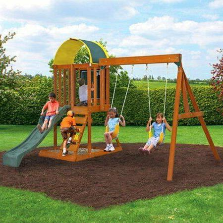 Backyard Swing Wooden Kids