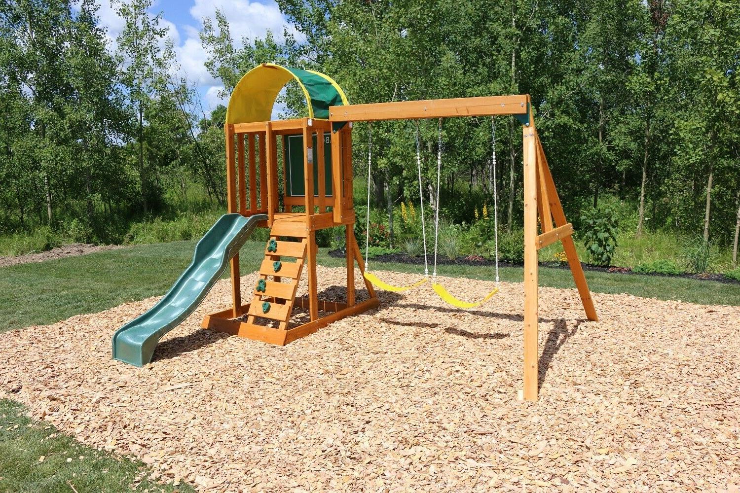 Backyard Set Wooden Outdoor Playground