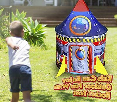 BESTPARTY Rocket for Kids Play Pop Playhouse,