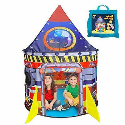 BESTPARTY Rocket Tent for Kids Indoor