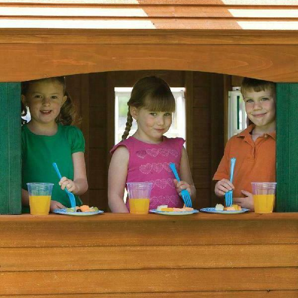 Big Ready-to-Assemble Wooden Playhouse Outdoor Kids