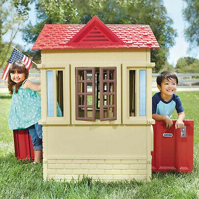 Tan Cape Cottage Playhouse Children Indoor Outdoor Portable