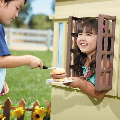 Little Childrens Outdoor Playhouse, Tan