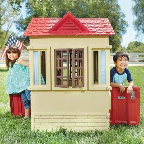 cape cottage playhouse tan kids house indoor