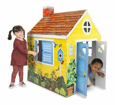 cardboard structure cottage playhouse