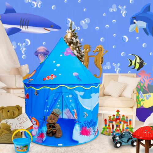ALPIKA Castle Play Tent, Indoor and Outdoor Kids Playhouse w