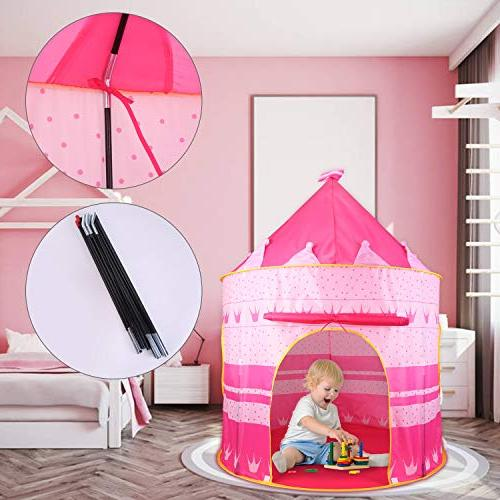 Castle Play Tent Playhouse for Kids Indoor Outdoor Girls Tents for Boys for Children Portable Foldable , with