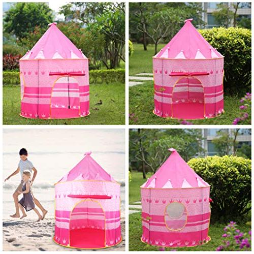 Castle Tent Play Playhouse Outdoor Girls Toy Tents for Boys Kindergarten Gift for Children Foldable , with Carrying