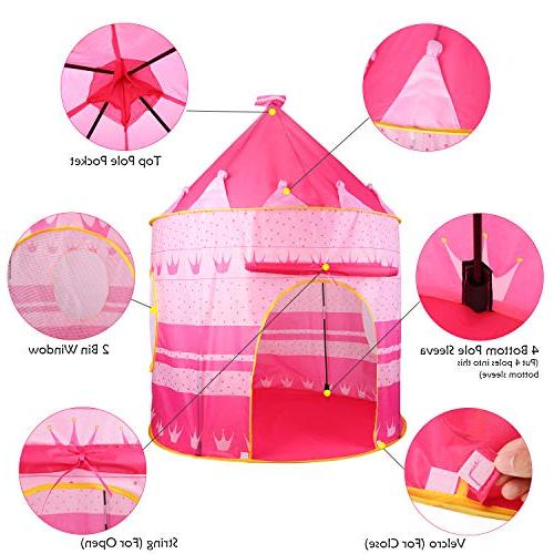 Castle Play Tent Playhouse Outdoor Boys for Foldable , with