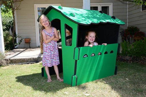 childrens playhouse outdoor or indoor color green