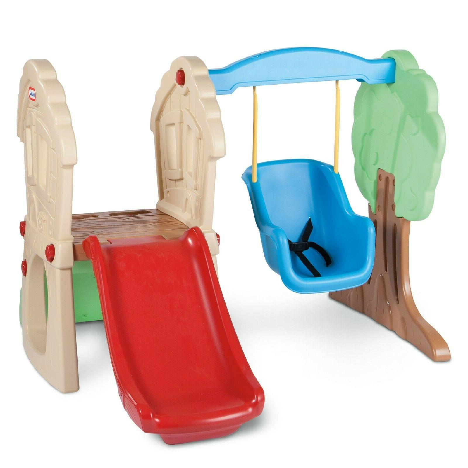Little Tikes Hide & Seek Climber and Swing - Brown/Tan Indoo