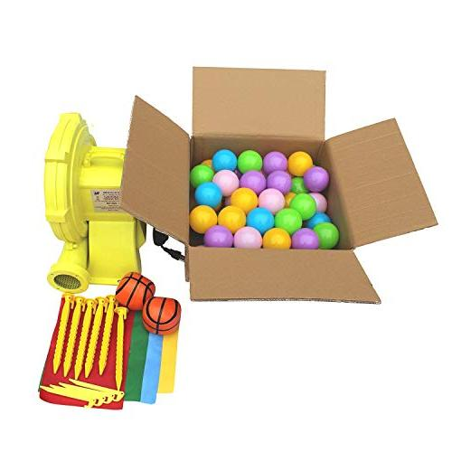 Bounce Castle Bouncy Inflatable Ball Hoop With Blower Balls