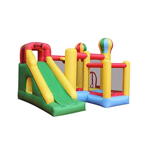 climbing playhouse slide castle inflatable