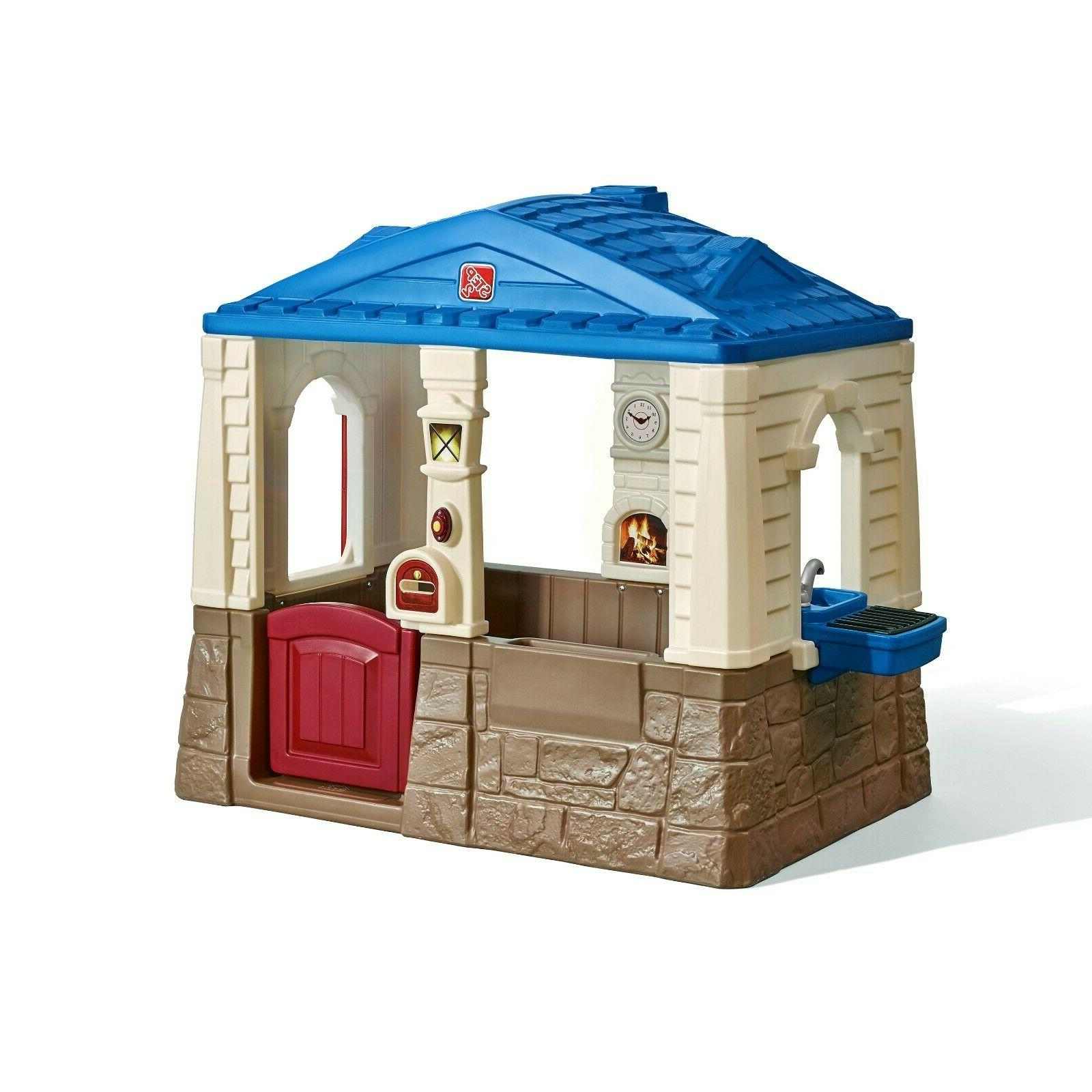 cottage playhouse outdoor kids toy children plastic