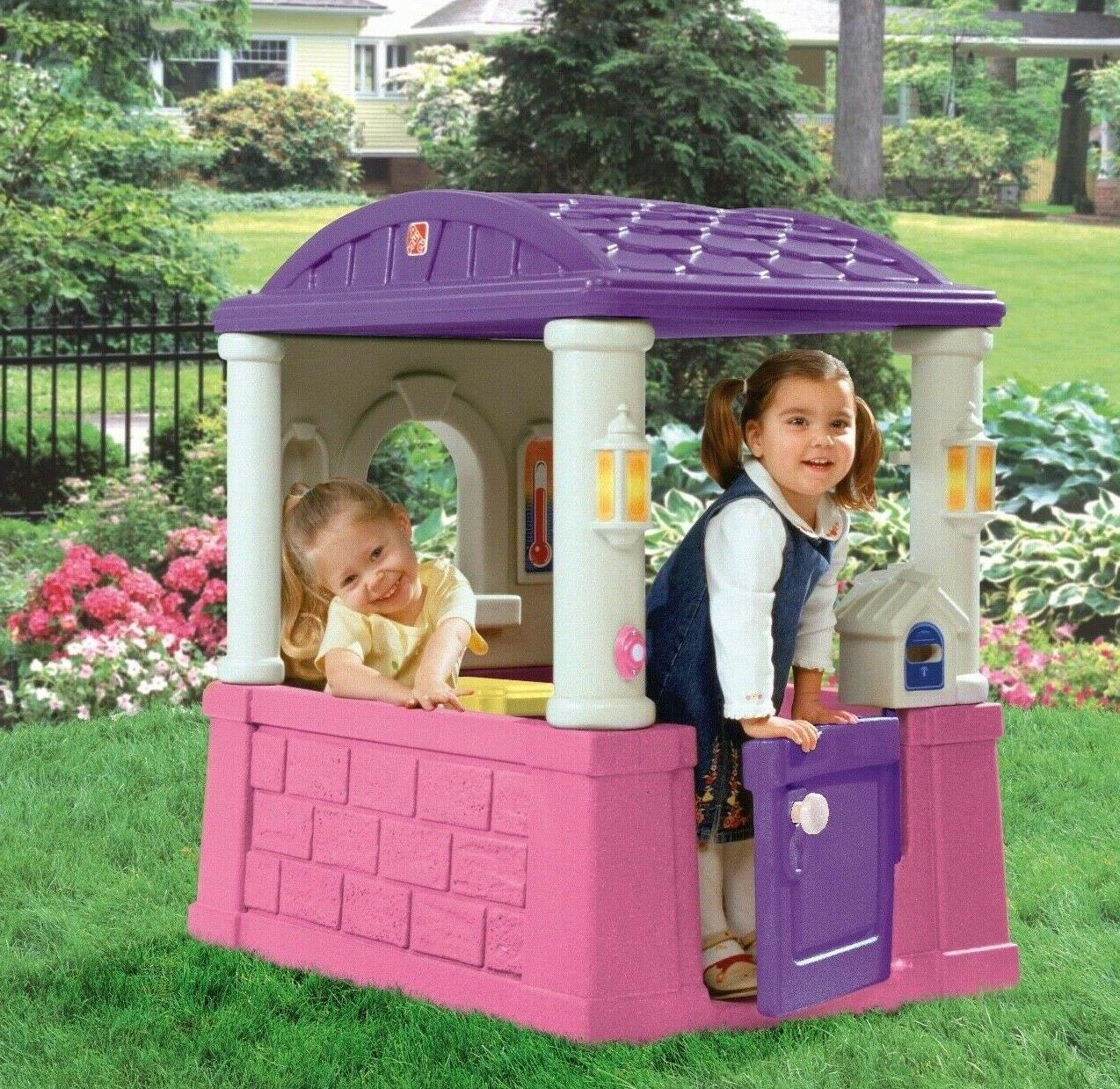 Cottage Playhouse Outdoor Play Activity Plastic Kids Girl