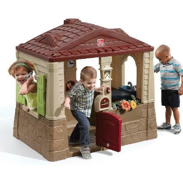 cottage playhouse toddlers outdoor kids play yard